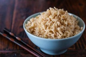 cooked brown rice gain weight