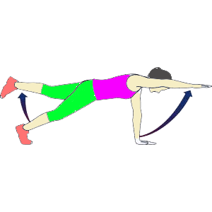 one arm superman plank abs trainning