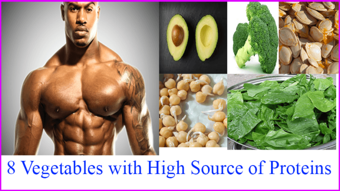 8 vegetables witrh high sources of proteins