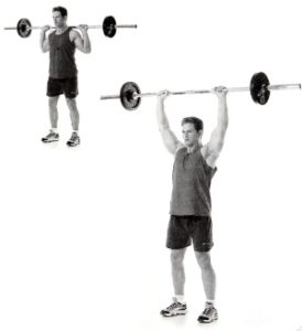 standing-behind-the-neck-press-shoulder exercise