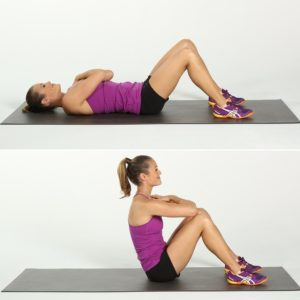 full body workout at home for men Sit ups