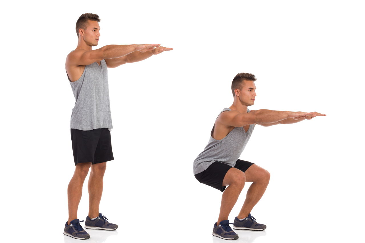 squat exercise full body workout at home