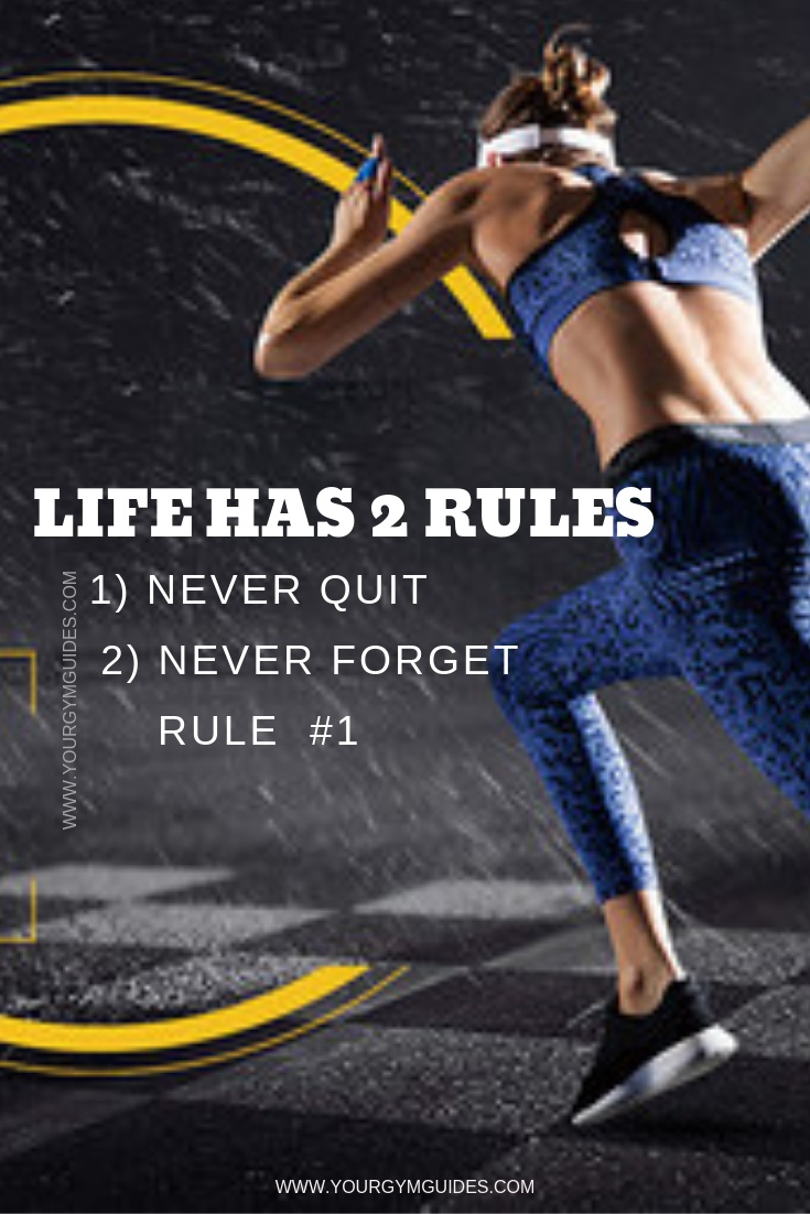 life has 2 rules fitness motivation quotes