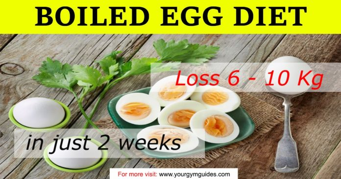 boiled egg diet plan for weight loss