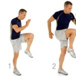High Knees cardio exercises weight loss
