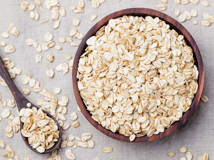 Oats high in fibre carb for muscle gain