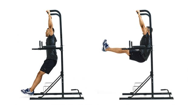 body weight leg raise abs core development