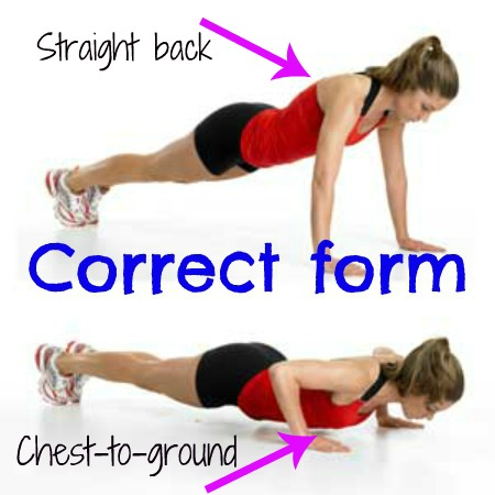 how to do a pushups the correct form