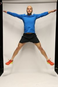 star-jumps cardio workout training