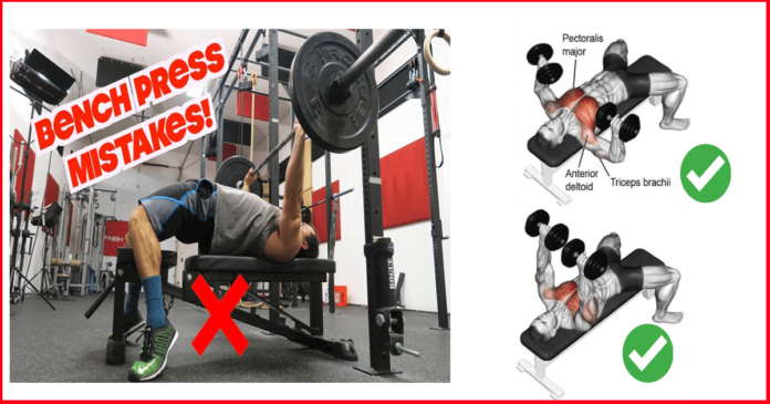 Common mistake you make while dumbbell or bar bench press