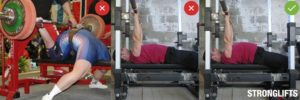 bench press back arching wrong