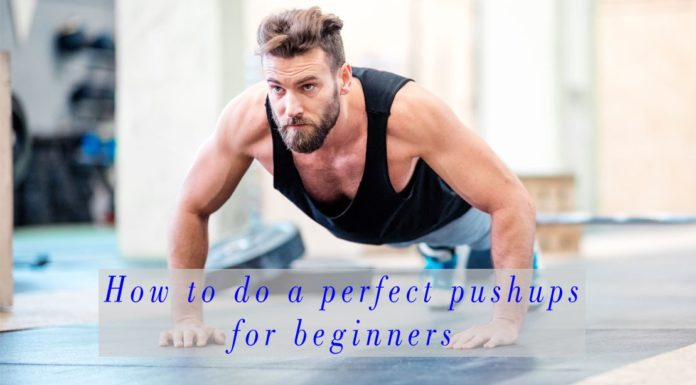 How to do a pushups for beginner