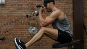 cable seated biceps curls