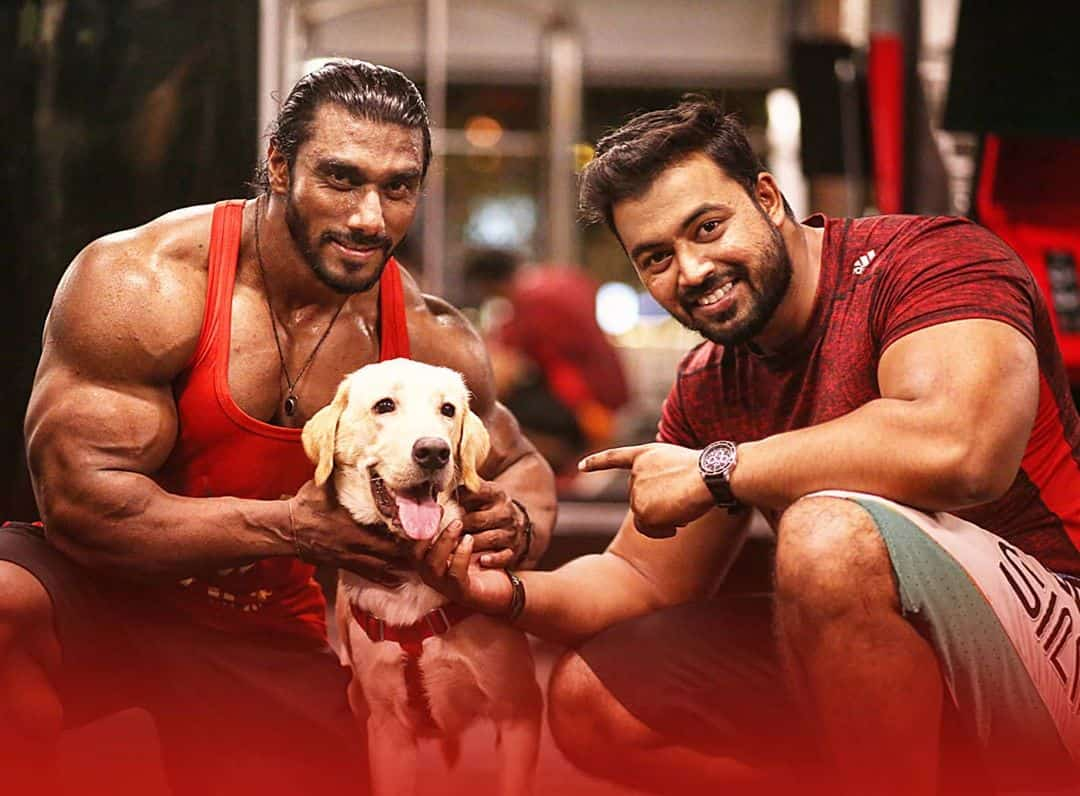 sangram chougule image with his dog